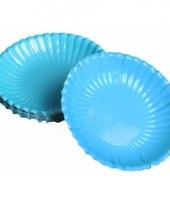 Turquoise chips schaaltjes 16 cm
