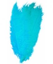 Turquoise grote sier veertjes 50 cm