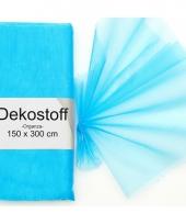 Turquoise organza stof 150 x 300 cm
