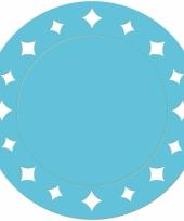 Turquoise versiering placemats 33 cm