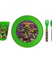 Turtles 3 delig ontbijtservies voor kids