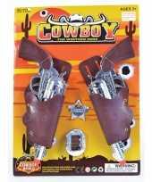 Twee nep pistolen met sheriff badge
