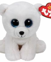 Ty beanie knuffel ijsbeertjes 15 cm