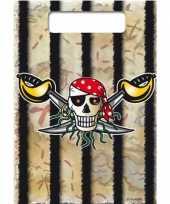 Uitdeelzakjes piratenfeestje 16x
