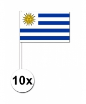 Uruguay zwaai vlaggetjes 10x