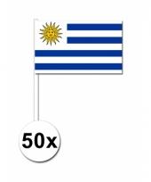 Uruguay zwaai vlaggetjes 50x