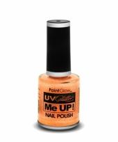 Uv glitter nagellak neon oranje