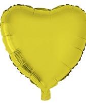 Valentijn hartjes ballon goud 52 cm