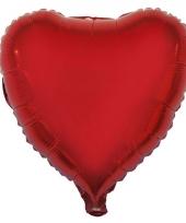Valentijn hartjes ballon rood 52 cm