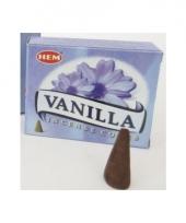 Vanille geur wierook kegels 10 stuks