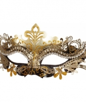 Venetiaans oogmasker zwart goud