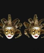 Venetiaanse maskers met tarot kaarten