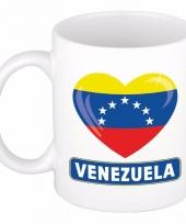 Venezolaanse vlag hartje koffiemok 300 ml
