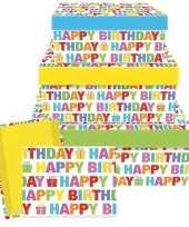 Verjaardag cadeautje happy birthday 17 5 cm