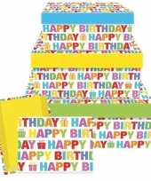 Verjaardag cadeautje happy birthday 26 cm