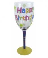Verjaardag feest glas happy birthday