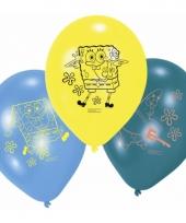 Verjaardagsfeest gekleurde spongebob ballonnen