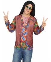 Verkleed hippie shirt voor heren