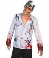 Verkleed horror dokter shirt voor heren
