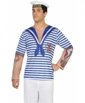 Verkleed matrozen shirt voor heren