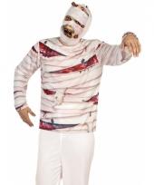 Verkleed mummie shirt voor heren