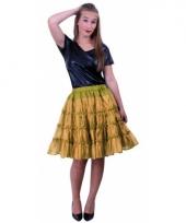 Verkleed petticoat goud 5 laags