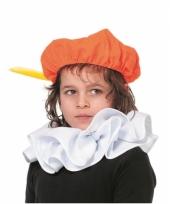 Verkleed pieten kraag wit voor kinderen