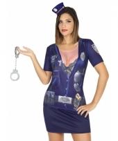 Verkleed politie shirt voor dames