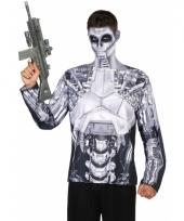 Verkleed robot-shirt voor heren