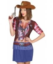 Verkleed sheriff shirt voor dames