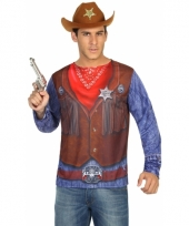 Verkleed sheriff shirt voor heren
