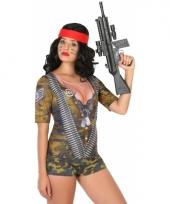 Verkleed soldaten shirt voor dames