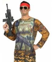 Verkleed soldaten shirt voor heren