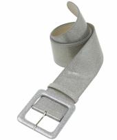 Verkleedaccessoires riem zilver