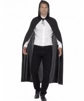 Verkleedkleding zwarte cape voor volwassenen