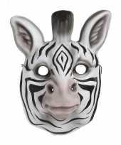 Verkleedmasker zebra voor kids