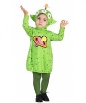 Verkleedpak groene alien voor peuters 10079607