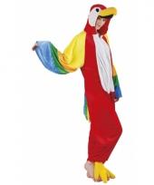 Verkleedpak papegaai voor dames