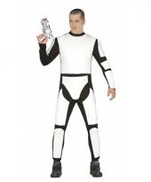 Verkleedpak ruimte soldaat wit