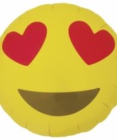 Verliefde emoticon folie ballon 46 cm