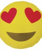 Verliefde emoticon folie ballon 46 cm