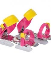 Verstelbare kinder ijzers roze geel