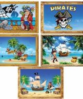 Vijf piraten posters a2 formaat
