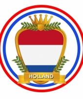 Viltjes met hollandse wapen vlag opdruk