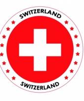 Viltjes met zwitserland vlag opdruk