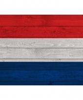 Vintage nederlandse vlag op hout poster 84 cm