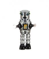 Vintage robot grijs 22 cm