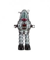 Vintage robot grijs 23 cm