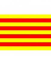Vlag catalonie met ringen 90 x 150 cm