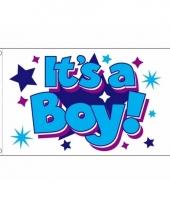 Vlag jongens geboorte 90 x 150 cm